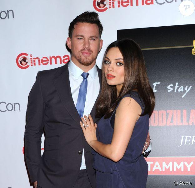 Channing Tatum et Mila Kunis enceinte au Cinemacon, Caesars Palace, Las Vegas, le 27 mars 2014.