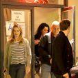 George Clooney et sa compagne Amal Alamuddin ont dîné avec John Krasinski et sa femme Emily Blunt dans le restaurant Kazu Sushi à Studio City (Los Angeles) le 27 mars 2014. John et George sont des amis qui ont tourné ensemble dans Jeux de dupes
