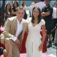 Matt Damon et sa femme Luciana lors de l'inauguration de son etoile sur le Walk of Fame a Hollywood