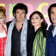 """Julie Depardieu, Patrick Bruel, Emmanuelle Béart et Ariel Wizman à l'avant-première du film """"Les Yeux Jaunes Des Crocodiles"""" au Gaumont Marignan à Paris, le 31 mars 2014."""