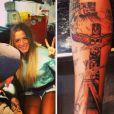 Anaïs dévoile son nouveau tatouage sur son compte Instagram. Avril 2014.