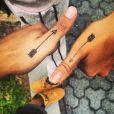 """Anaïs et Eddy ont gravé leur amitié pour la vie grâce à un tatouage. """"Tous pareille Hahahahaa ❤️ #soeur #lesanges6 #bisousdenous #darr #Avie #onvousaimes"""", a écrit Eddy sur son compte Instagram."""