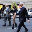 David Letterman, Bill Murray et Lady Gaga à New York, le 2 avril 2014.