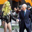 Lady Gaga et David Letterman à New York, le 2 avril 2014.