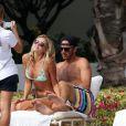 Paulina Gretzky et son chéri le golfeur Dustin Johnson à Hawaï le 12 janvier 2013