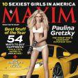 Paulina Gretzky en couverture de  Maxim  Etats-Unis de décembre 2013
