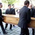 Obsèques de Régine Deforges en l'église Saint-Germain-des-Prés à Paris. Le 10 avril 2014.