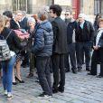 Les petits-enfants de Régine Deforges - Obsèques de Régine Deforges en l'église Saint-Germain-des-Prés à Paris. Le 10 avril 2014.