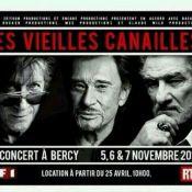 Johnny Hallyday et ses vieilles canailles sur scène en novembre !