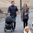 Exclusif - La princesse Madeleine de Suède et Chris O'Neill en promenade avec leur fille la princesse Leonore à New York, le 30 mars 2014