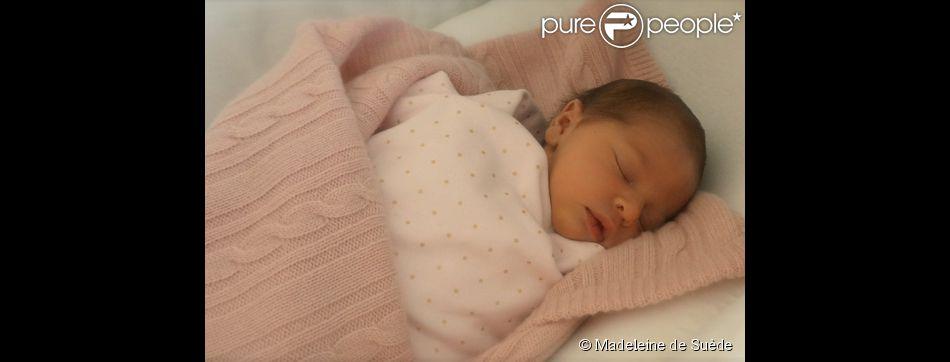 Portrait de la princesse Leonore de Suède, fille de la princesse Madeleine et Chris O'Neill, après sa naissance le 20 février 2014