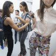 """Exclusif - Shy'm, directrice artistique de sa nouvelle marque createur """"AS I AM"""", lors des backstages de sa collection printemps/ete 2014 a la galerie Nikki Diana Marquardt à Paris, le 4 decembre 2013."""