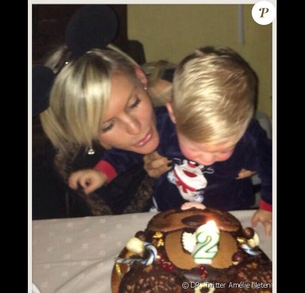 Amélie Neten célèbre les 2 ans de son adorable fils Hugo - Twitter