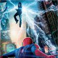 Affiche du film The Amazing Spider-Man 2 avec Jamie Foxx en Electro et Andrew Garfield en homme-araignée