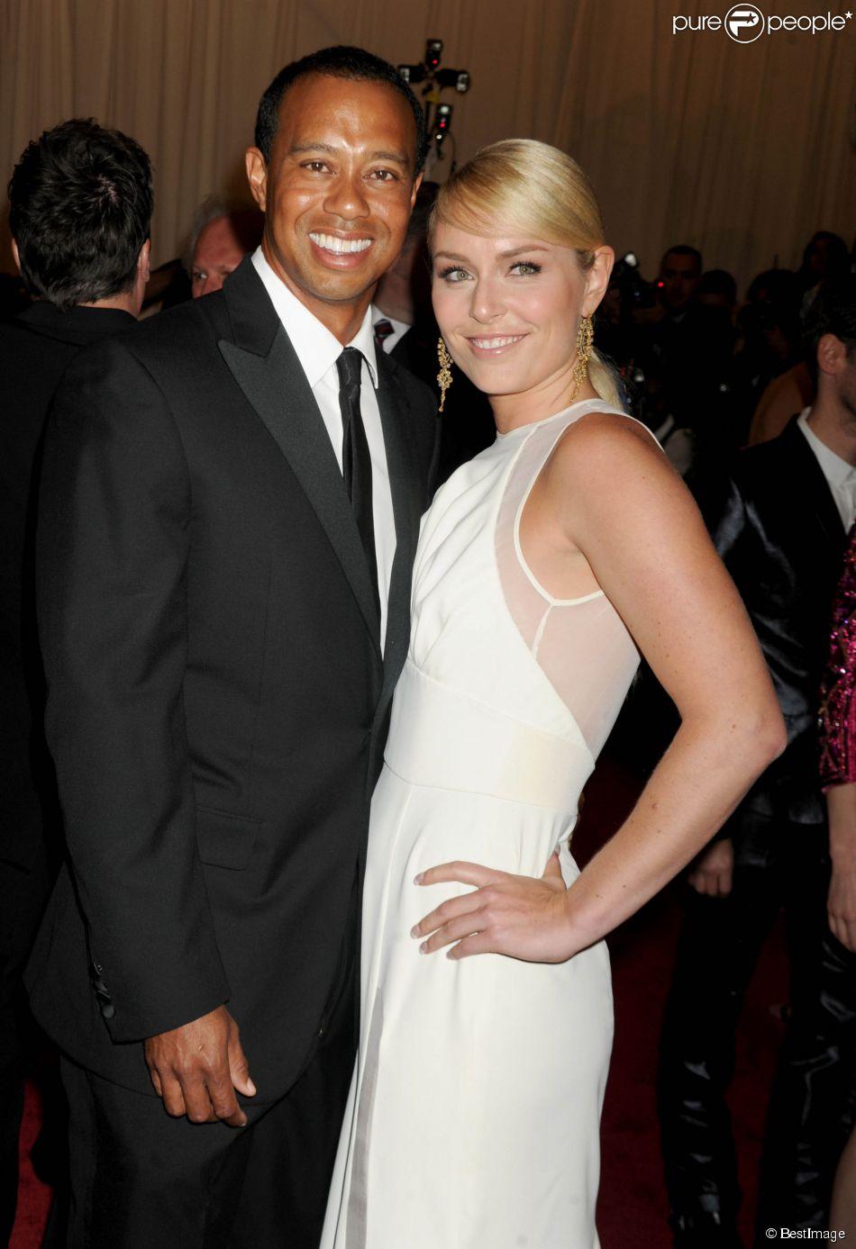 Tiger Woods et Lindsey Vonn lors de la soirée 'Punk: Chaos to Couture' Costume Institute Benefit Met Gala à New York le 6 mai 2013
