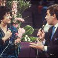 Micheline Dax invitée de Jean-Pierre Foucault dans l'émission Sacrée soirée en 1988
