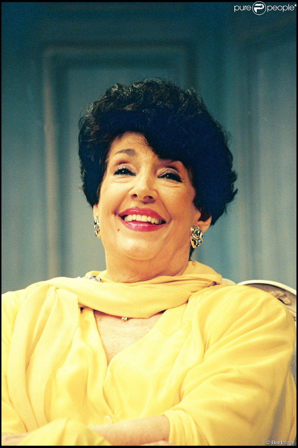 Micheline Dax lors de la générale de la pièce de théâtre A tout coeur à Paris le 2 avril 1993