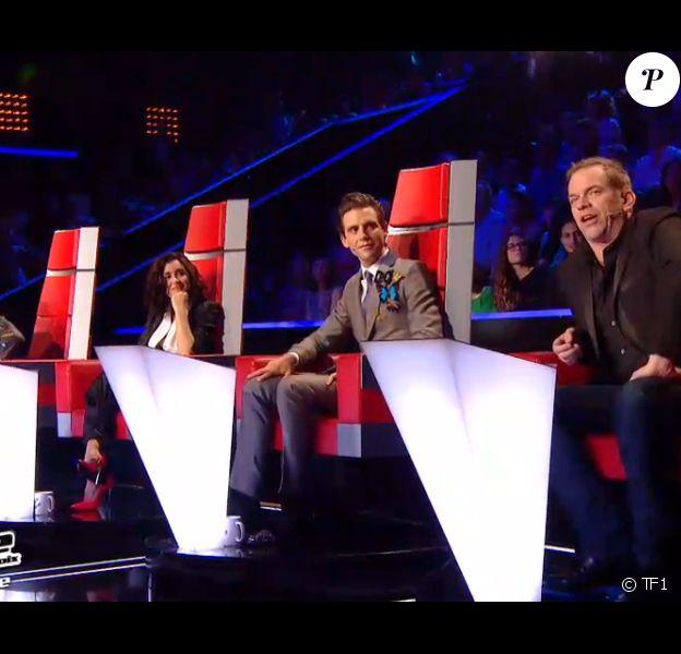 Le jury de The Voice (The Voice 3, émission diffusée le samedi 26 avril 2014 sur TF1.)