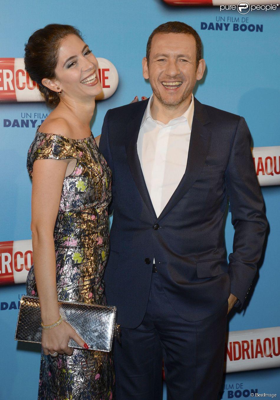 """Dany Boon et sa femme Yaël - Avant-première du film """"Supercondriaque"""" au Gaumont Opéra à Paris, le 24 février 2014"""