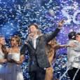 "Scotty McCreery grand gagnant d'""American Idol"" saison 10 au Nokia Theatre de Los Angeles, le 25 mai 2011."