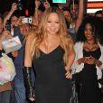 """Mariah Carey fait la promotion à Times Square de son dernier album """"Me.I am Mariah...The Elusive Chanteuse"""" le 1er mai 2014 à New York."""