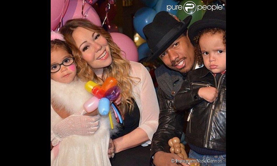 Mariah Carey et son mari Nick Cannon ont fêté les 3 ans de leurs jumeaux Monroe et Moroccan, le 30 avril 2014.