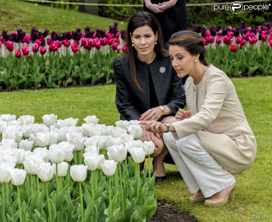 Princesse Marie De Danemark Radieuse Elle Baptise La Tulipe A Son