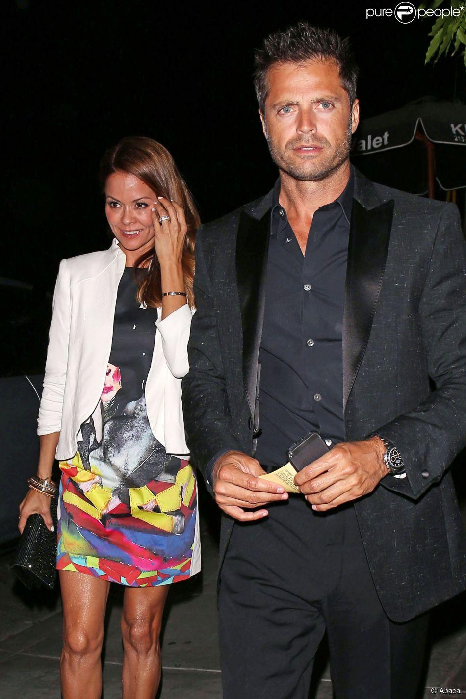 Brooke Burke-Charvet et son mari David Charvet lors de la soirée Chrome Hearts Collection Launch party à West Hollywood, Los Angeles, le 8 mai 2014.
