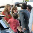 "Jennifer Garner et Steve Carell sur le tournage du film ""Alexander and the Terrible, Horrible, No Good, Very Bad Day"" à Los Angeles, le 27 août 2013."