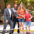 "Steve Carell, Jennifer Garner, Kerris Dorsey et Ed Oxenbould sur le tournage du film ""Alexander and the Terrible, Horrible, No Good, Very Bad Day"" à Pasadena, le 26 août 2013."
