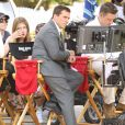 "Steve Carell sur le tournage du film ""Alexander and the Terrible, Horrible, No Good, Very Bad Day"" à Pasadena, le 26 août 2013."