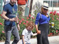 Christina Aguilera, enceinte : Baby bump radieux avec les deux hommes de sa vie