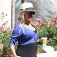Christina Aguilera (enceinte) à Los Angeles, le 11 mai 2014.