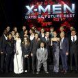 """Le casting du soir à la première du film """"Days of Future Past"""" au centre Jacob Javits à New York, le 10 mai 2014."""