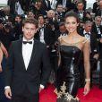 Marine Lorphelin et Bastian Baker lors de la montée des marches pour le film Grace de Monaco à l'ouverture du 67e Festival de Cannes, sur les marches du Palais des Festivals, de Cannes, le 14 mai 2014