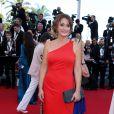"""Daniela Lumbroso - Montée des marches du film """"Mr. Turner"""" lors du 67 ème Festival du film de Cannes le 15 mai 2014"""