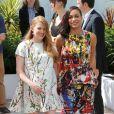 "Rosario Dawson, Mireille Enos (enceinte) - Photocall du film ""Captives"" au 67e Festival du Film de Cannes, le 16 mai 2014."