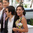"Rosario Dawson, Atom Egoyan et Ryan Reynolds - Photocall du film ""Captives"" au 67e Festival du Film de Cannes, le 16 mai 2014."