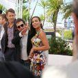 "Ryan Reynolds, Atom Egoyan, Rosario Dawson - Photocall du film ""Captives"" au 67e Festival du Film de Cannes, le 16 mai 2014."