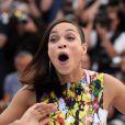 """Rosario Dawson en pleine forme au photocall du film """"Captives"""" au 67e Festival du Film de Cannes, le 16 mai 2014."""