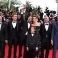 """Alice David, Gérard Jugnot, Philippe Lacheau, Nicolas Benamou, Clotilde Courau (princesse de Savoie), Enzo Tomasini, Julien Arruti et Tarek Boudali - Montée des marches du film """"Dragon 2"""" lors du 67e Festival du film de Cannes le 16 mai 2014"""
