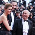 """Clotilde Courau, princesse de Savoie, et Gérard Jugnot - Montée des marches du film """"Dragon 2"""" lors du 67e Festival du film de Cannes le 16 mai 2014"""