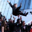 """Enzo Tomasini - Montée des marches du film """"Dragon 2"""" lors du 67e Festival du film de Cannes le 16 mai 2014"""