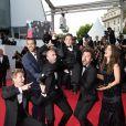 """Philippe Lacheau, Tarek Boudali, Julien Arruti, Enzo Tomasini, Nicolas Benamou et Alice David - Montée des marches du film """"Dragon 2"""" lors du 67e Festival du film de Cannes le 16 mai 2014"""