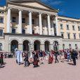 Célébration de la Fête nationale norvégienne le 17 mai 2014 au palais royal, à Oslo