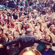 Nabilla crée l'événement à Cannes, samedi 17 mai 2014.