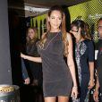 """Nabilla Benattia et son petit ami Thomas Vergara croisent Paris Hilton à la sortie de la boite de nuit """"Cosy Box"""" à Cannes, le 17 mai 2014."""