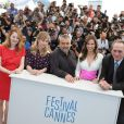 "Miranda Otto, Sonja Richter, Luc Besson, Hilary Swank, Tommy Lee Jones - Photocall du film ""The Homesman"" lors du 67e festival international du film de Cannes, le 18 mai 2014."