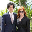 "Christina Hendricks et son mari Geoffrey Arend - Photocall du film ""Lost River"" lors du 67e festival international du film de Cannes, le 20 mai 2014."