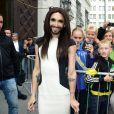Conchita Wurst alias Thomas Neuwirth en concert à Vienne, le 18 mai 2014, après sa victoire à l'Eurovision 2014.